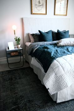 Dark grey bedding | Valerie Aflalo