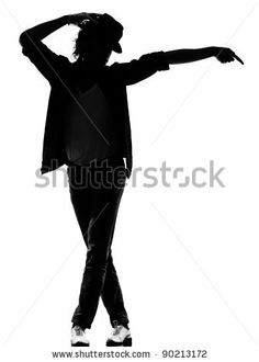 Full Length Silhouette Of A Young Man Dancer Dancing Funky Hip Hop RB On Isolated Studio White Background Stock Photo 90213172 : Shutterstock