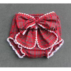 Cubrepañal con lazo Eve escoces rojo