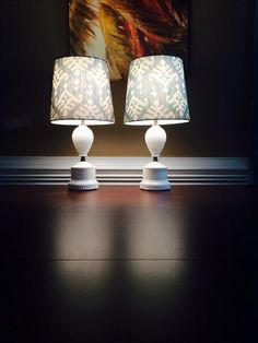 Vintage Hobnail Milk Glass Lamps: Accent by FelixVintageMarket