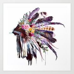 Tattoooooos Buy Indian Headdress Art Print by whitttwill. Worldwide shipping available at Indian Headdress Tattoo, Indian Headress, Native American Headdress, Native American Art, Cute Captions, Native Art, Skull Art, Indian Art, Sleeve Tattoos