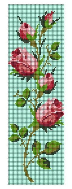 Roses cross stitch.