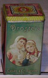 Nostalgische blikken.  Droste's Cacao & Chocolade Tin.
