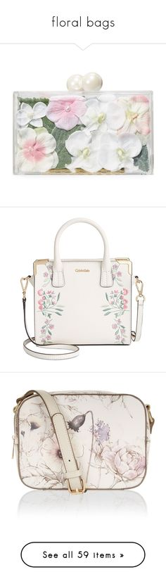 """floral bags"" by coldasme on Polyvore featuring bags, handbags, clutches, purses, flowers, blushing pink, man bag, acrylic purse, pink clutches i flower purse"