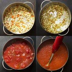Authentic Italian marinara sauce is cooked low and slow to create a thick and flavorful sauce made in the manner of my family tradition. | justalittlebitofbacon.com