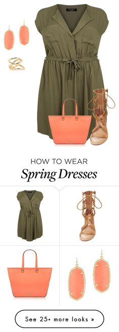 """plus size spring in green"" by kristie-payne on Polyvore featuring Steve Madden, Rebecca Minkoff, Kendra Scott, Jennifer Fisher, women's clothing, women, female, woman, misses and juniors"