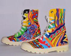 25% korting nu/Hand-Painted Sneakers / handgemaakte schoenen/schoenen/comfortabele Casual Sneakers/aangepast Sneakers