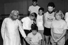 Rare old vintage photo of the BKS Iyengar India .... #bksiyengar #iyengar #vintageyoga #yogahistory #yoga #om #yogaguru #yogafounder #yogastar