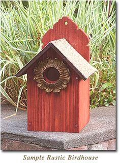 Rustic bird house!