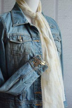 VINTAGE Raffaele Sterling Silver Leaf Bracelet