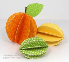 paper orange fruit | To add a bit of authenticity to each fruit, use real twigs as stems. I ...