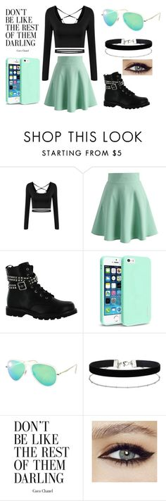 """Untitled #325"" by taco-bell-love ❤ liked on Polyvore featuring Chicwish, Gotta Flurt, Insten, Ray-Ban and Miss Selfridge"