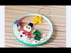 Quilling of Christmas Ideas -Christmas Angel - Easy & Simple Christmas design 14 - YouTube