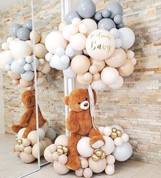 Deco Baby Shower, Boy Baby Shower Themes, Gender Neutral Baby Shower, Baby Shower Favors, Baby Shower Parties, Baby Boy Shower, Baby Balloon, Baby Shower Balloons, Welcome Home Baby