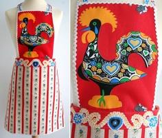 Apron. Galo de Barcelos. Portuguese traditional design.