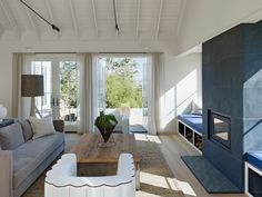 built in benches - contemporary living room by Nick Noyes Architecture