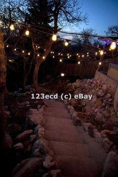 Commercial Patio String Lights Festival Lighting Gazebo Lights 48'   eBay