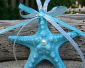 Starfish Christmas Ornament-TIFFANY BLUE-Beach Weddings, Coastal Beach Ornament, Aqua Blue, Beach Home Decor, Coastal Home. $10.00, via Etsy.