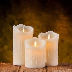 AIR ZUKER Flameless Candles LED Candles Tear Wave Shaped Candles Battery Operated Candles Pillar LED Candle with Timer and Remote, Height Set of for Wedding Decorations Flameless Candles, Pillar Candles, Parisian Style, Parisian Fashion, Bohemian Fashion, Something Beautiful, Remote, Wedding Decorations, Wax