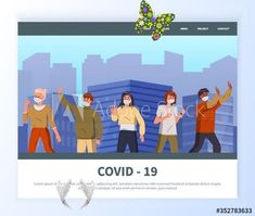 Landing page of modern website with flat vector illustration. Mix race people wearing face medical masks show protesting gesture against spreading covid-19. Text information at site with picture - Buy this stock vector and explore similar vectors at Adobe Stock Landing page of modern website with flat vector illustration. Mix race people wearing face medical masks show protesting gesture against spreading covid-19. Text information at site with picture #AD , #race, #Mix, #illustration… Youtube How To Make, Tactical Helmet, Super Strong Magnets, Easy Face Masks, Modern Website, Mixed Race, Conceptual Design, Photo Craft, Kylie Jenner