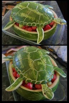 Turtle fruit bowl