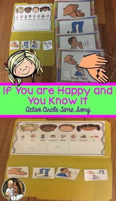 If You Are Happy And You Know It: Interactive Adapted Song Card: Circle Time Preschool Circle Time Songs, Preschool Songs, Kids Songs, English Games, English Language Learners, Singing Tips, Picture Cards, Are You Happy, File Folder