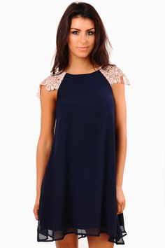 Keep+it+classic+and+simple+with+this+crochet+shoulder+contrast+smock+dress.+Add+your+favourite+statement+necklace+for+a+more+lasting+impression.+We're+completely+in+love+with+the+versatility+of+the+dress+is+sure+not+to+be+missed.+Perfect+for+day+to+day+wear.+Make+a+stylish+choice+with+this+dress+and+set+the+right+foot+forward!+    -+Chiffon+Overlay  -+Lined+Body  -+Contrast+crochet+Shoulder