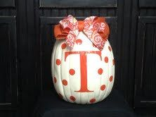 University of Tennessee Pumpkin for Game Day Tailgating and Fall Decorating...Show your team spirit! on Etsy, $47.00