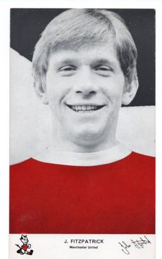 John Fitzpatrick of Man Utd in Man Utd Crest, Manchester United, The Unit, Man United