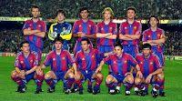 F. C. BARCELONA - Barcelona, España - Temporada 1995-96 - Kodro, Busquets, Nadal, Jordi Cruyff, Popescu y Bakero; Amor, Roger, Sergi, Ferrer y Figo - F. C. BARCELONA 1 (De la Peña), BAYERN MUNICH 2 (Babbel y Witeczek) - 16/04/1996 - Copa de la UEFA, semifinales, partido de vuelta - Barcelona, Nou Camp - El Barça cae eliminado Barcelona Players, Barcelona Football, Fc Barcelona, Ariadne Diaz, Coaching, Busquets, Munich, Soccer, Amor