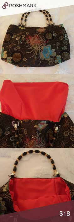 Beautiful Asian Evening Bag / Purse Brand New. No stains inside. Red Lining. Smoke Free Home unknown Bags