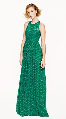 REVEL: Emerald Polka Dot Dress