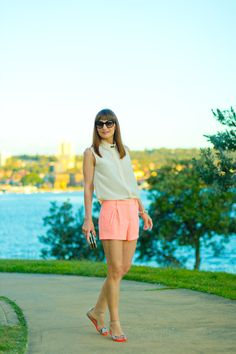 Summer Style - Witchery pink shorts & pink blouse
