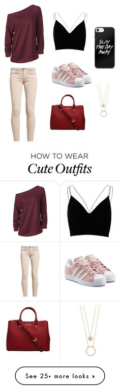"""""""Cute Casual Winter Outfit """" by lsantana13 on Polyvore featuring River Island, adidas Originals, MICHAEL Michael Kors and Kate Spade"""