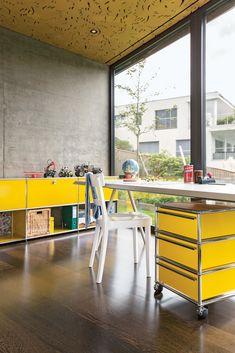 USM Haller Home Office, USM goldgelb, Working Essentials, USM Rollcontainer, USM Sideboard