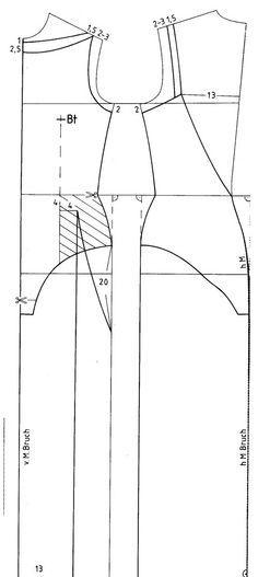 Pattern length dress./Выкройка  длинного платья.