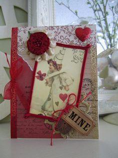 Vintage-style Valentine Card