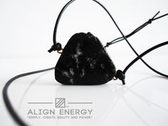 Esoterically, Black Tourmaline is considered a strong spiritual grounding stone. Associated with the Earth Chakra, Black Tourmaline is known to shield the wearer by absorbing negative energies from the surroundings and transforming them into positive energies - creating not only a defensive shield, but an opening to move freely in unaligned energetic circumstances. www.AlignEnergy.net