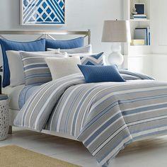 Nautica Lawndale Navy Comforter Duvet Sets New Bedding Styles