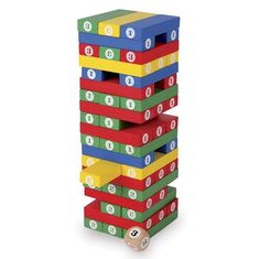 Build the tower, roll the dice and select the corresponding brick. Just make sure your tower doesn't wobble and fall. Cheerful bright colours and large numerals.