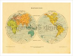 24 best maps reproduction of vintage and antique maps images on world hemispheres map retro wall map for home decor poster gumiabroncs Choice Image