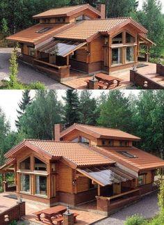 27 creative deck patio design 19 – de is gardening Rustic Home Design, Dream Home Design, Modern House Design, Kerala House Design, Patio Design, Exterior Design, Design Table, Garden Design, String Lights Outdoor