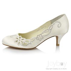 Wedding Shoes Low Heel | ...  _Rhinstone_Low_Heel_Wedding_Shoes_Bridal__3__5862846275157883