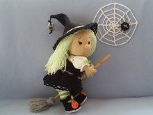 Hermine the little witch, crochet pattern