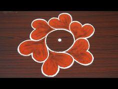 Simple n easy flower rangoli for beginners Simple Flower Rangoli, Simple Rangoli Kolam, Rangoli Designs Flower, Rangoli Patterns, Rangoli Designs Diwali, Rangoli Designs Images, Rangoli With Dots, Beautiful Rangoli Designs, Simple Flowers