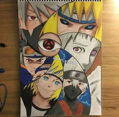 Kakashi Obito and The forth hokage