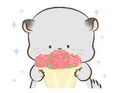 Simao & Bamao 6: NY Stickers Cute Cartoon Images, Cute Love Cartoons, Little Panda, Cute Little Baby, Kawaii Stickers, Cat Stickers, Bear Gif, Love Couple Images, Icon Gif