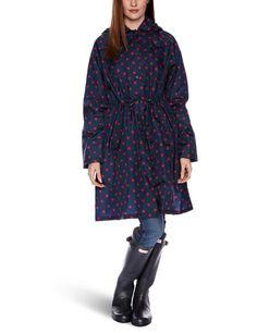 Fulton Spot Red and Navy 01 Womens Rain Coat Multicoloured Small/Medium: Amazon.co.uk: Clothing