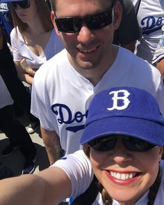 THINK BLUE: Opening day in LA!! We bleed blue!  #la #dodgers #ladodgers #openingday #welovela #baseball #mlb #gododgers #mygirl #love #myworld by echomeinspections