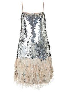 Robe à plumes et sequins - Robes de soirée  - Rayon Robes